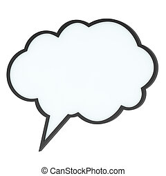 high-quality, étiquette, parole, vide, bulle, ou, nuage