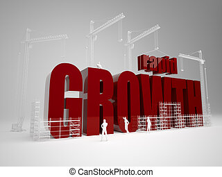 Building rapid growth - High quality 3d render. Building...