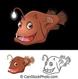 Anglerfish Cartoon Character