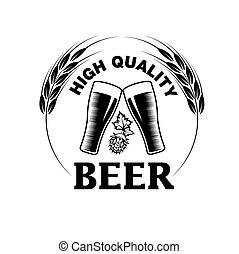high quality beer emblem