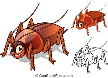 Detailed Cockroach Cartoon