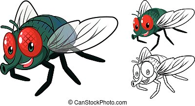 Detailed Fly Cartoon Character