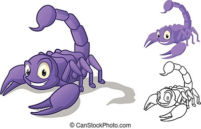 Detailed Scorpion Cartoon Character