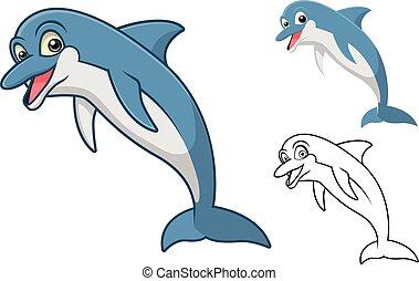 Dolphin Cartoon Character