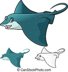 Eagle Ray Cartoon - High Quality Eagle Ray Cartoon Character...