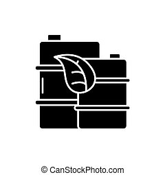 High quality fuel black icon, vector sign on isolated background. High quality fuel concept symbol, illustration