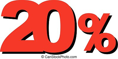 High Quality Graphic Illustration Vector Sale 20 Percent