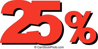 High Quality Graphic Illustration Vector Sale 25 Percent