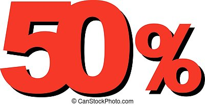 High Quality Graphic Illustration Vector Sale 50 Percent