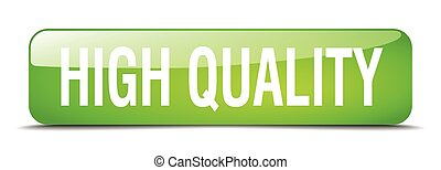 high quality green square 3d realistic isolated web button