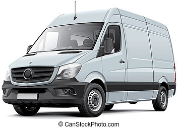 European delivery van - High quality illustration of...