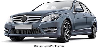 German compact sedan - High quality illustration of German...