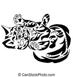 High quality kitty tattoo