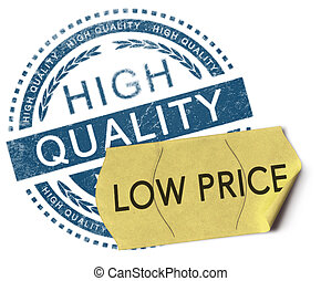 High quality, low price - 3D illustration of a rubber stamp...