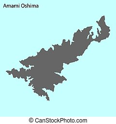 High quality map of Amami Oshima is the island of Japan