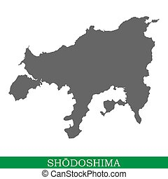 High quality map of Shodoshima is the island of Japan