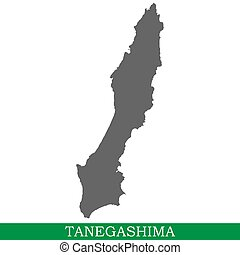 High quality map of Tanegashima is the island of Japan