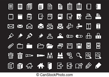 High quality office and web icons