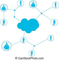 connecting people concept or social network