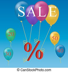 sale balloon discount concept