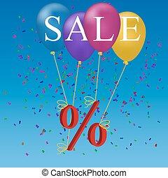 sale balloon discount concept