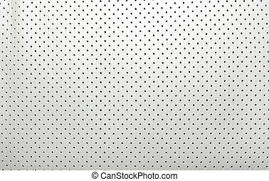 High quality perforated beige leather. Interior of modern...