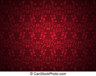 high quality red floral pattern