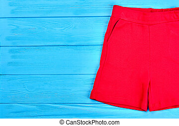 High quality red shorts for kids.