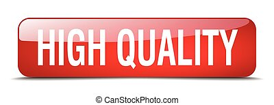 high quality red square 3d realistic isolated web button