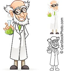 Scientist Cartoon Character
