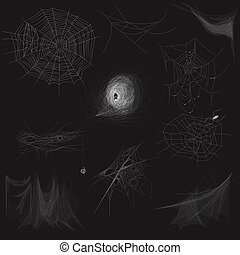 High quality set of spider web concept. Vector illustration.