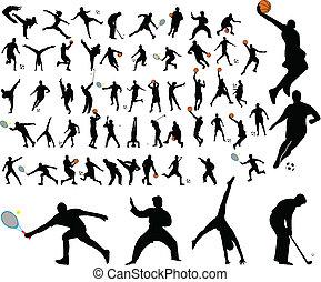 high quality sportsmen - 58 high quality sportsmen - vector
