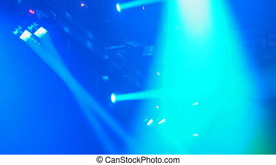 High quality video of green laser show Colorful Concert...