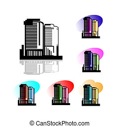 High raise building symbol,logo - This vector illustrates...