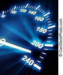 high rate on speedometer - 3d image of speedometer faceplate...