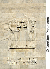 high-relief at law courts #2, milan - detail of decoration...