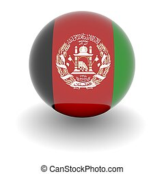High resolution ball with flag of Afghanistan