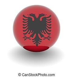 High resolution ball with flag of Albania