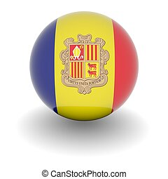 High resolution ball with flag of Andorra