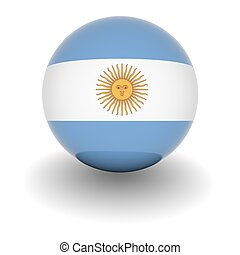 High resolution ball with flag of Argentina