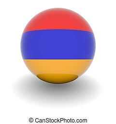 High resolution ball with flag of Armenia