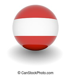 High resolution ball with flag of Austria
