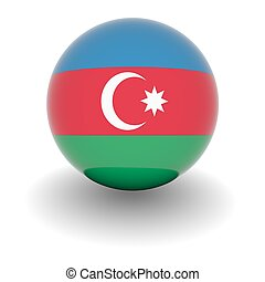 High resolution ball with flag of Azerbaijan