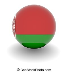 High resolution ball with flag of Belarus