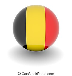 High resolution ball with flag of Belgium