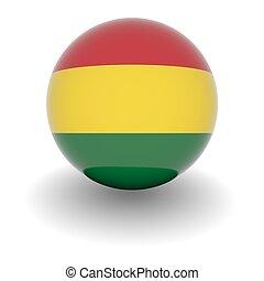 High resolution ball with flag of Bolivia