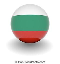 High resolution ball with flag of Bulgaria