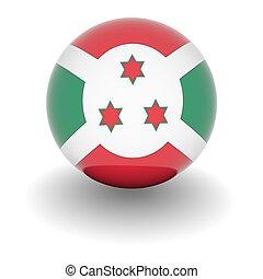 High resolution ball with flag of Burundi