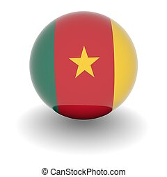 High resolution ball with flag of Cameroon