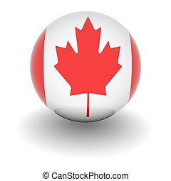 High resolution ball with flag of Canada